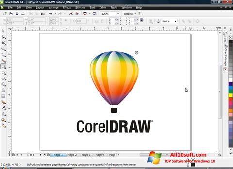 スクリーンショット CorelDRAW Windows 10版