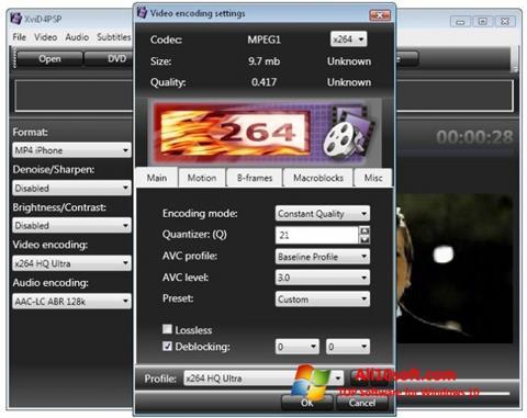 スクリーンショット XviD4PSP Windows 10版