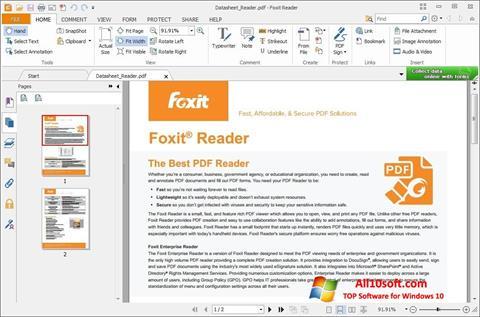 スクリーンショット Foxit Reader Windows 10版