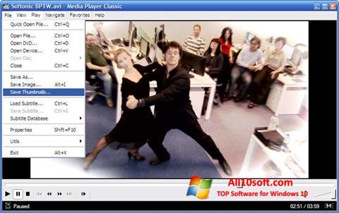 スクリーンショット Media Player Classic Windows 10版