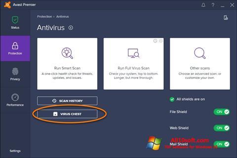スクリーンショット Avast Windows 10版