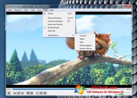 スクリーンショット VLC Media Player Windows 10版