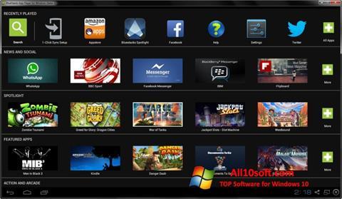スクリーンショット BlueStacks Windows 10版