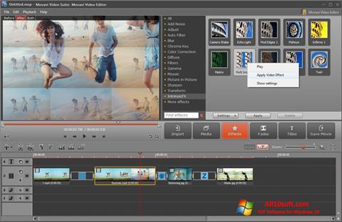 スクリーンショット Movavi Video Suite Windows 10版
