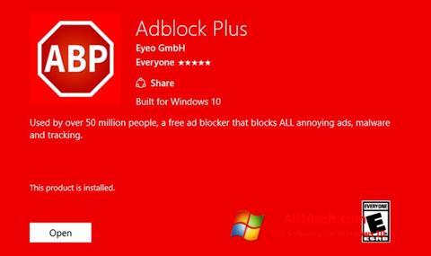 スクリーンショット Adblock Plus Windows 10版